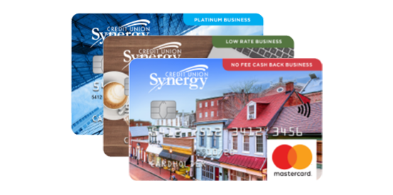 Sample of Synergy CU Collabria business credit cards